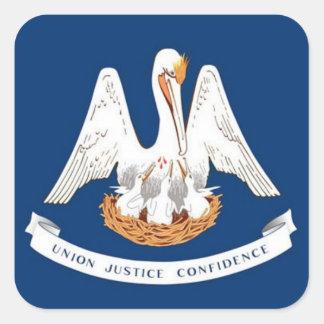 Flag of Louisiana Square Sticker