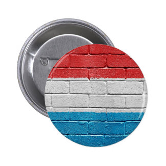 Flag of Luxembourg 6 Cm Round Badge
