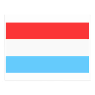 Flag of Luxembourg Postcard