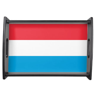 Flag of Luxembourg Serving Tray