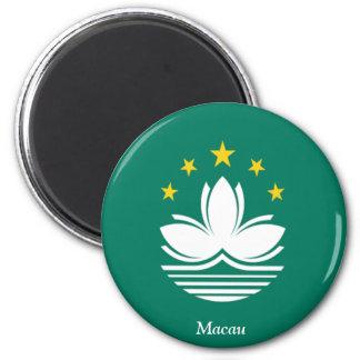 Flag of Macau 6 Cm Round Magnet