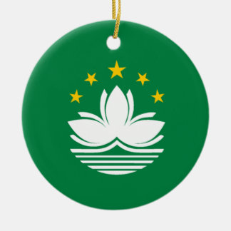 Flag of Macau Christmas Ornament