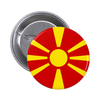 Flag of Macedonia Button 2 Inch Round Button
