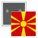 Flag of Macedonia Buttons