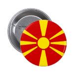 Flag of Macedonia Pinback Button
