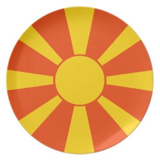 Flag of Macedonia Plate