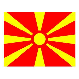 Flag of Macedonia Postcard