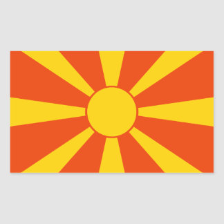 Flag of Macedonia Rectangular Sticker