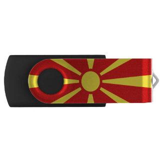 Flag of Macedonia USB Flash Drive Swivel USB 2.0 Flash Drive