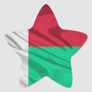 Flag of Madagascar Star Sticker
