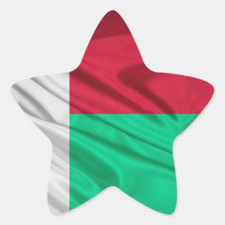 Flag of Madagascar Star Sticker