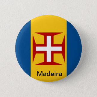 Flag of Madeira 6 Cm Round Badge