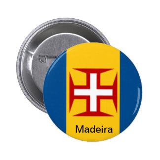 Flag of Madeira 6 Cm Round Badge