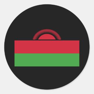 Flag of Malawi Classic Round Sticker