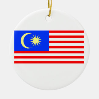 Flag of Malaysia Round Ceramic Decoration