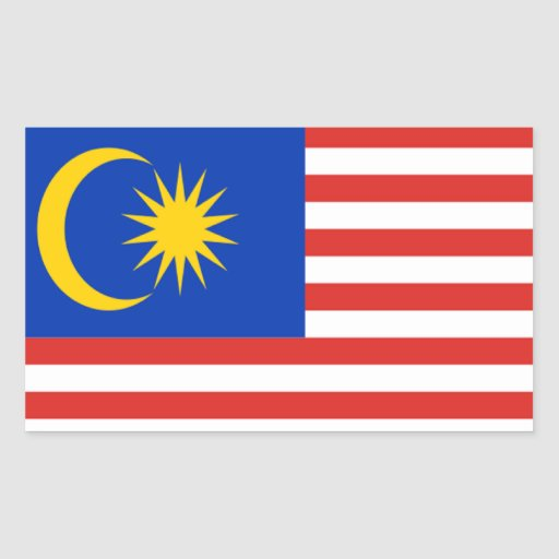 Flag of Malaysia Rectangle Stickers