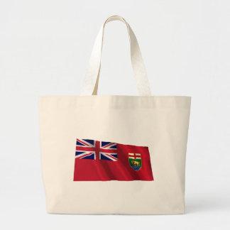 Flag of Manitoba, Canada Jumbo Tote Bag