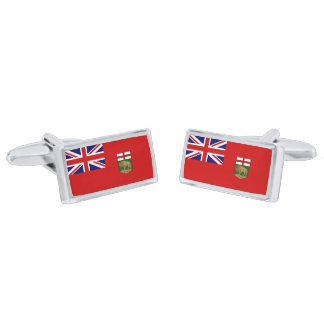 Flag of Manitoba Cufflinks Silver Finish Cufflinks