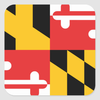 Flag of Maryland Square Sticker