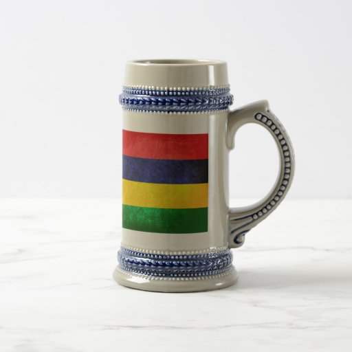 Flag of Mauritius 18 Oz Beer Stein