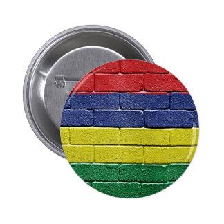 Flag of Mauritius 6 Cm Round Badge