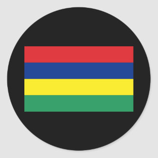 Flag of Mauritius Classic Round Sticker