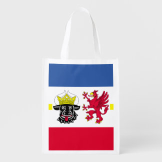 Flag of Mecklenburg-Western Pomerania Reusable Grocery Bag