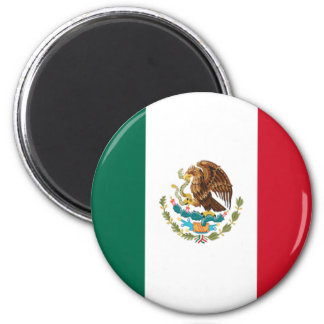 Flag of Mexico 6 Cm Round Magnet