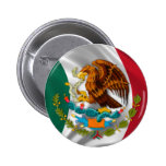 Flag of Mexico, Coat of Arms 6 Cm Round Badge