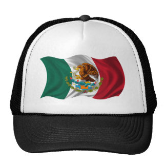 Flag of Mexico, Coat of Arms Mesh Hats