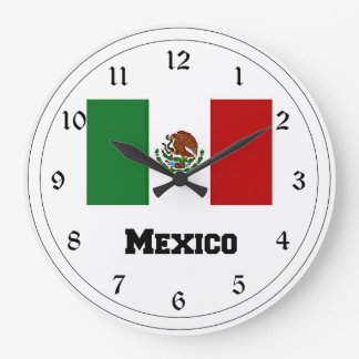 Flag of Mexico Large Clock