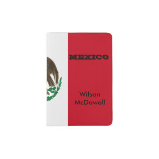 Flag of Mexico Passport Holder