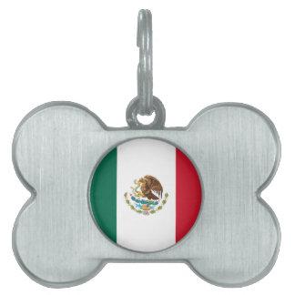 Flag of Mexico Pet ID Tag