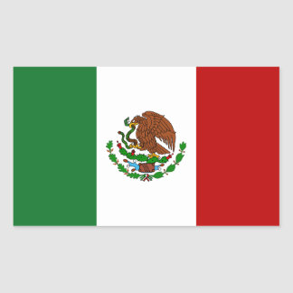 Flag of Mexico Rectangular Sticker