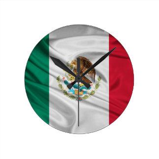 Flag of Mexico Round Clock