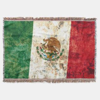 Flag of Mexico Throw Blanket