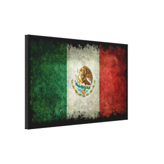 Flag of Mexico vintage style Canvas Print