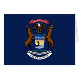 Flag of Michigan Greeting Card