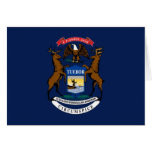 Flag of Michigan Greeting Cards