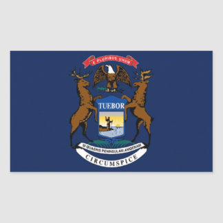 Flag of Michigan Rectangular Sticker