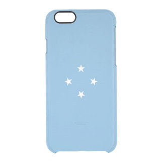 Flag of Micronesia Clear iPhone Case