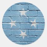 Flag of Micronesia Round Sticker