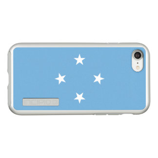 Flag of Micronesia Silver iPhone Case