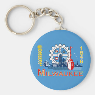 Flag of Milwaukee, Wisconsin Key Ring