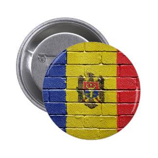 Flag of Moldova 6 Cm Round Badge