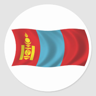 Flag of Mongolia Classic Round Sticker