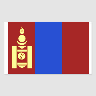Flag of Mongolia Rectangular Sticker