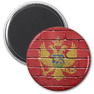 Flag of Montenegro 6 Cm Round Magnet