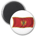 Flag of Montenegro Fridge Magnets