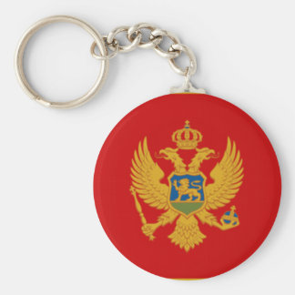 Flag of Montenegro Key Ring